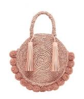 straw bag pink