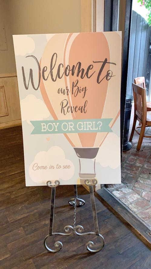 welcome to gender reveal sign